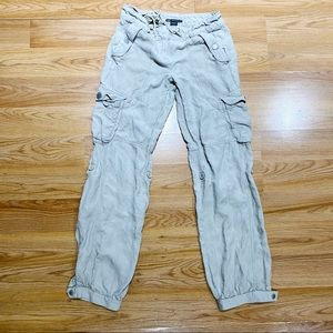 Armani Exchange AX Khaki Cargo Pants Woman's 0
